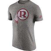 Nike Men's Washington Redskins Tri-Blend Historic Logo Grey T-Shirt