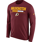 Nike Men's Washington Redskins Legend Staff Red Long Sleeve Performance Shirt