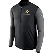 Nike Men's Washington Redskins Sideline 2017 Coaches Black Half-Zip Top