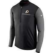 Nike Men's Washington Redskins Sideline 2017 Coaches Black Half-Zip Top