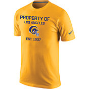 Nike Men's Los Angeles Rams Legend 'Property Of' Gold T-Shirt