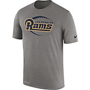 Nike Men's Los Angeles Rams Legend Football Icon Performance Grey T-Shirt