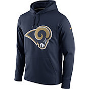Nike Men's Los Angeles Rams Performance Circuit Logo Essential Navy Hoodie