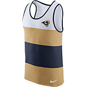 Nike Men's Los Angeles Rams Wide Stripe Performance Navy Tank Top