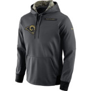 Nike Men's Los Angeles Rams Salute to Service 2016 Anthracite Pullover Hoodie