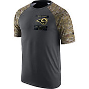 Nike Men's Los Angeles Rams Salute to Service 2016 Anthracite Performance T-Shirt