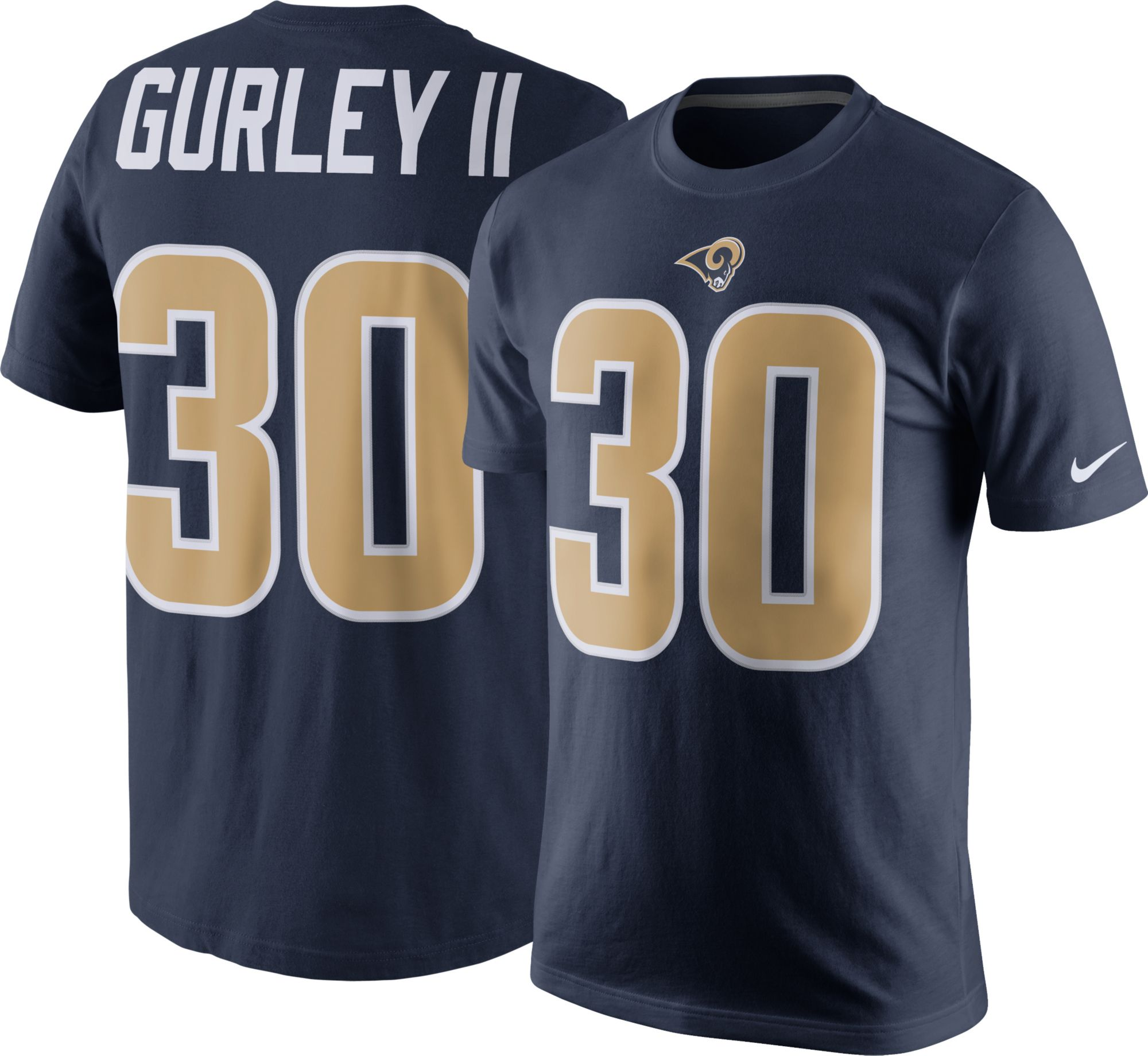 product image · nike mens los angeles rams todd gurley 30 pride navy t shirt limited tavon austin l