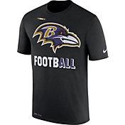 Nike Men's Baltimore Ravens Sideline 2017 Legend Football Performance Black T-Shirt