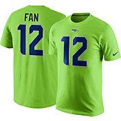 Nike Men's Seattle Seahawks Fan #12 Green T-Shirt