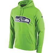 Nike Men's Seattle Seahawks Performance Circuit Logo Essential Green Hoodie