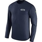 Nike Men's Seattle Seahawks Sideline 2017 Modern Crew Navy Long Sleeve Top