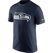 Nike Men's Seattle Seahawks Essential Logo Navy T-Shirt