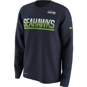 Nike Men's Seattle Seahawks Team Practice Performance Navy Long Sleeve Shirt
