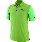 Nike Men's Seattle Seahawks Sideline 2017 Team Issue Green Polo