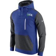 Nike Men's Seattle Seahawks AV15 Fleece Blue Pullover Hoodie