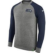 Nike Men's Seattle Seahawks AW77 Carbon Heather Crew Top