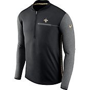 Nike Men's New Orleans Saints Sideline 2017 Coaches Black Half-Zip Top