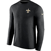 Nike Men's New Orleans Saints Sideline 2017 Coaches Black Long Sleeve Shirt