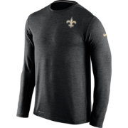 Nike Men's New Orleans Saints Sideline 2016 Dri-FIT Touch Black Long Sleeve Shirt
