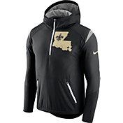 Nike Men's New Orleans Saints Sideline 2017 Fly Rush Black Lightweight Jacket