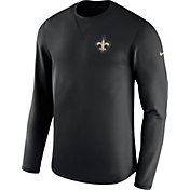 Nike Men's New Orleans Saints Sideline 2017 Modern Crew Black Long Sleeve Top
