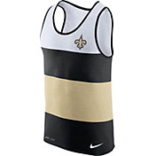 Nike Men's New Orleans Saints Wide Stripe Performance Black Tank Top