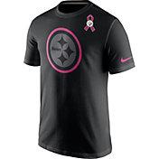Nike Men's Pittsburgh Steelers Breast Cancer Awareness 2016 Team Travel Black T-Shirt