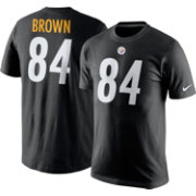 Nike Men's Pittsburgh Steelers Antonio Brown #84 Pride Black T-Shirt