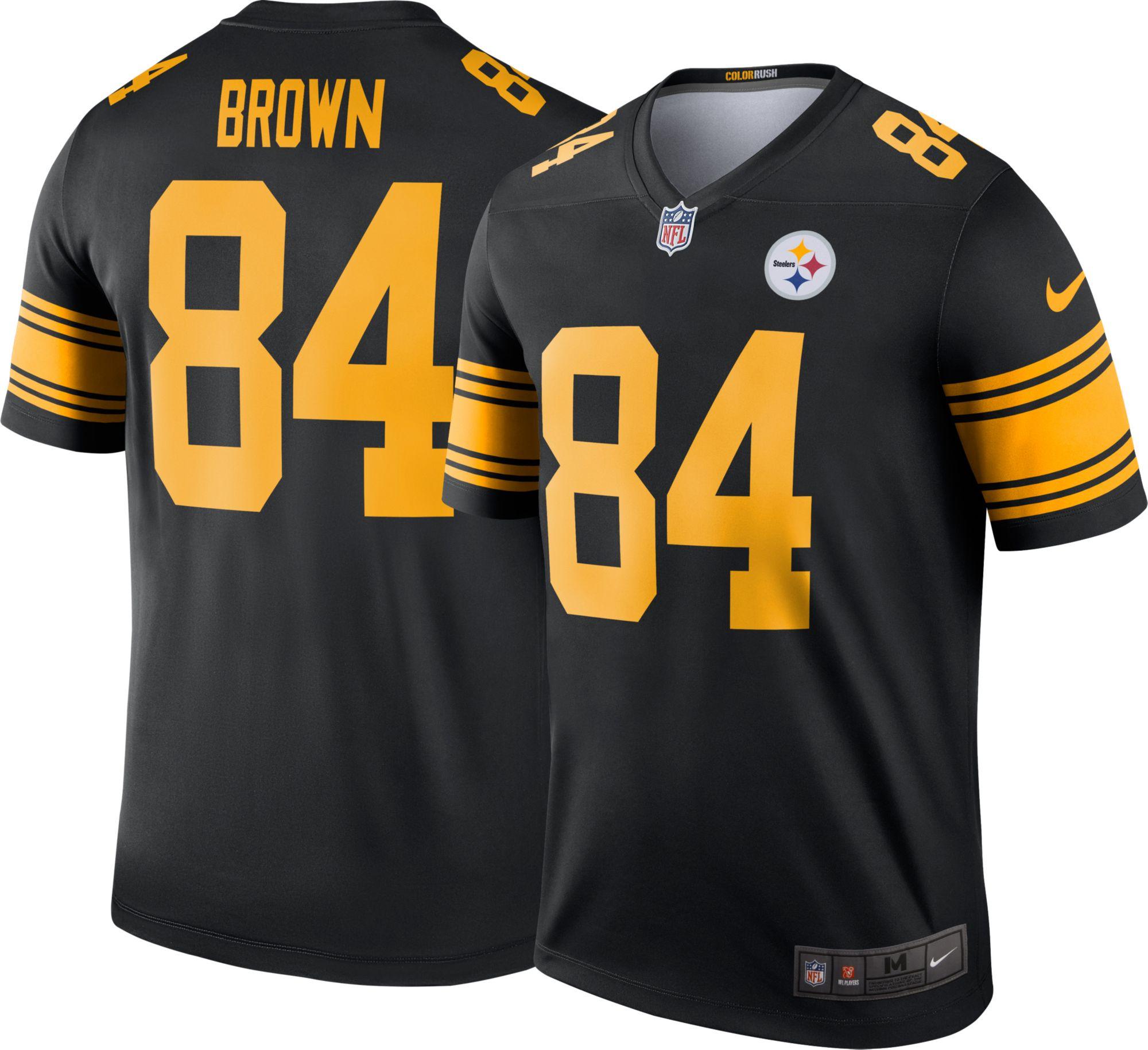 Nike Men s Color Rush 2016 Pittsburgh Steelers Antonio Brown 84