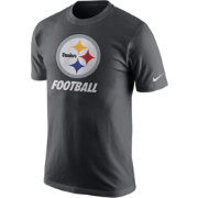 Nike Men's Pittsburgh Steelers Facility Anthracite T-Shirt