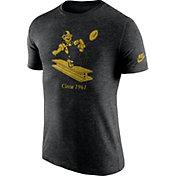 Nike Men's Pittsburgh Steelers Tri-Blend Historic Logo Black T-Shirt