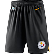 Nike Men's Pittsburgh Steelers Dry Knit Black Performance Shorts