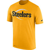 Nike Men's Pittsburgh Steelers Legend Football Icon Performance Gold T-Shirt