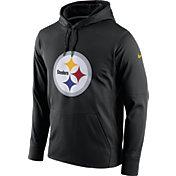 Nike Men's Pittsburgh Steelers Performance Circuit Logo Essential Black Hoodie