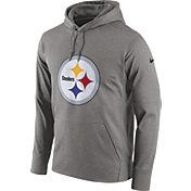Nike Men's Pittsburgh Steelers Performance Circuit Logo Essential Grey Hoodie