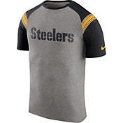 Nike Men's Pittsburgh Steelers Enzyme Shoulder Stripe T-Shirt