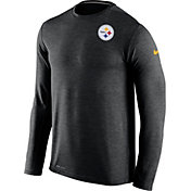 Nike Men's Pittsburgh Steelers Sideline 2016 Dri-FIT Touch Black Long Sleeve Shirt