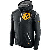 Nike Men's Pittsburgh Steelers Sideline 2017 Fly Rush Black Lightweight Jacket