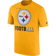 Nike Men's Pittsburgh Steelers Sideline 2017 Legend Football Performance Gold T-Shirt