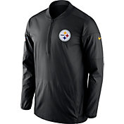 Nike Men's Pittsburgh Steelers Sideline 2017 Lockdown Black Half-Zip Performance Jacket