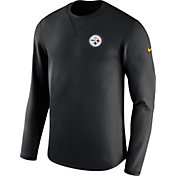 Nike Men's Pittsburgh Steelers Sideline 2017 Modern Crew Black Long Sleeve Top