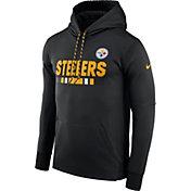 Nike Men's Pittsburgh Steelers Sideline 2017 Therma-FIT Black Performance Hoodie