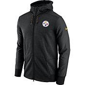 Nike Men's Pittsburgh Steelers Sideline 2017 Travel Black Full-Zip Hoodie