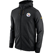 Nike Men's Pittsburgh Steelers Sideline Travel Black Full-Zip Hoodie