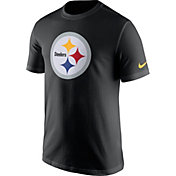 Nike Men's Pittsburgh Steelers Essential Logo Black T-Shirt