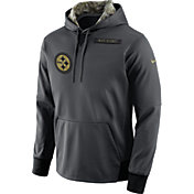 Nike Men's Pittsburgh Steelers Salute to Service 2016 Anthracite Pullover Hoodie