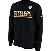 Nike Men's Pittsburgh Steelers Team Practice Performance Black Long Sleeve Shirt
