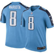 Nike Men's Color Rush 2016 Tennessee Titans Marcus Mariota #8 Legend Game Jersey