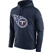 Nike Men's Tennessee Titans Performance Circuit Logo Essential Navy Hoodie