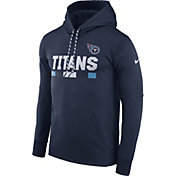 Nike Men's Tennessee Titans Sideline 2017 Therma-FIT Navy Performance Hoodie